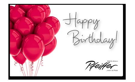 "Givecard ""Happy Birthday!"""
