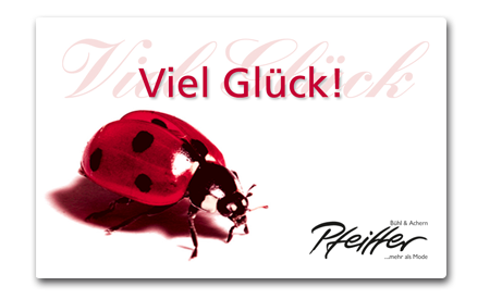 "Givecard ""Viel Glück!"""