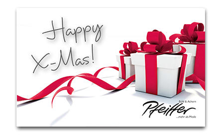 "Givecard ""Happy X-Mas!"""