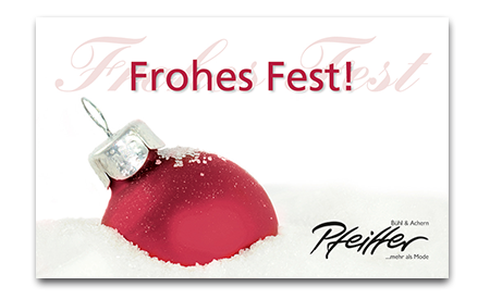 "Givecard ""Frohes Fest!"""